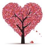 Boom van liefde op een witte achtergrond Royalty-vrije Stock Afbeelding