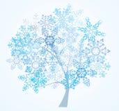 Boom van sneeuwvlokken Stock Afbeelding