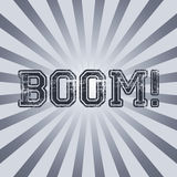 Boom vintage sunray art Royalty Free Stock Photo