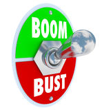 Boom Vs Bust Toggle Switch Turn On Off Economy Success Royalty Free Stock Photo