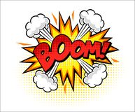 Boom word comic pop art vector illustration