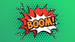 BOOM Word Retro Cartoon Comic Bubbles Popup Style Expressions.