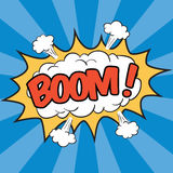 BOOM! Wording Sound Effect. For comic speech bubble Royalty Free Stock Photos