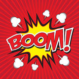 BOOM! wording Royalty Free Stock Images