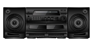 Boombox. Isolated image of a boombox. Vector illustration Royalty Free Stock Photography