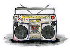 Boombox royalty free illustration