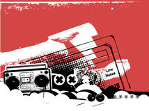Boombox vector illustratie