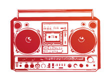 Boombox. Vector illustration of vintage boombox Royalty Free Stock Image