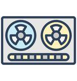 Boombox, cassette player Isolated Vector Icon That can be easily edited in any size or modified. vector illustration