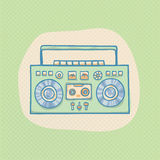 Boombox with cassette Royalty Free Stock Images