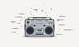 Boombox line illustration Royalty Free Stock Images