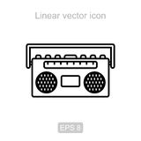 Boombox. Linear  icon. Royalty Free Stock Images
