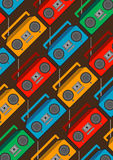 Boombox pattern cartoon  Stock Photos