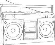 boombox radio ilustracji