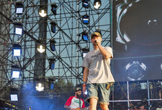 BoomBox rock band performs at Atlas Weekend festival. Kiev, Ukraine. Stock Image