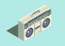 Boombox. Vintage isometric  design Stock Photo