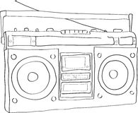 boomboxradio stock illustrationer