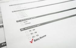 Boomer-Übersicht Lizenzfreie Stockfotos