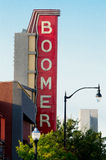 Boomer Theater sign, Norman, Oklahoma Royalty Free Stock Photo
