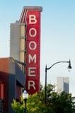Boomer-Theaterzeichen, Normanne, Oklahoma Lizenzfreies Stockfoto