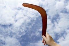 Boomerang de renvoi, plaine Images stock