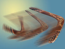 Boomerang durante il volo Fotografia Stock Libera da Diritti