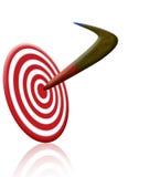Boomerang ed obiettivo Fotografie Stock