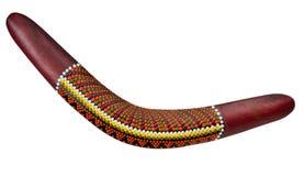 Boomerang en bois Photo libre de droits