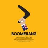 Boomerang. Hand Holding A Boomerang stock illustration
