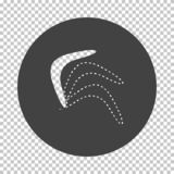 Boomerang  icon. Subtract stencil design on tranparency grid. Vector illustration royalty free illustration