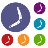 Boomerang icons set Royalty Free Stock Photo