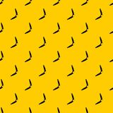 Boomerang pattern vector. Boomerang pattern seamless vector repeat geometric yellow for any design vector illustration