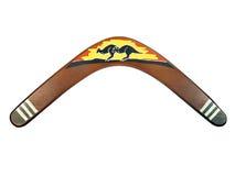 Boomerang peint par kangourou Images libres de droits