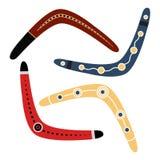 Boomerang set illustration. Royalty Free Stock Photo