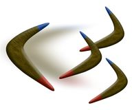 Boomerangs. Competition Concept,3D&Computer generated Royalty Free Stock Photos