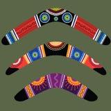 Boomerangs with aboriginal design vector illustration