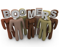 Boomers - People of Different Races and Older Age Royalty Free Stock Image