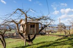 Boomhuis - Plattelandshuisje - Landbouwbedrijf Royalty-vrije Stock Afbeelding
