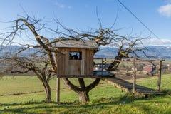 Boomhuis - Plattelandshuisje - Landbouwbedrijf Royalty-vrije Stock Fotografie