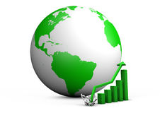 Booming global bar graph Royalty Free Stock Images