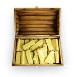 Boomstam met goud Royalty-vrije Stock Foto