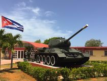 Boomstam in museum in Cuba Stock Afbeeldingen