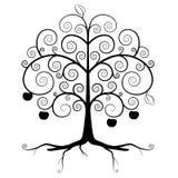 Boomsymbool - Abstract Vectorboomsilhouet stock illustratie