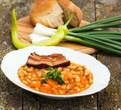 Boon met bacon Stock Fotografie