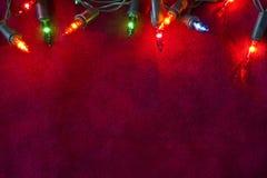 Bożonarodzeniowe światła granica Fotografia Stock