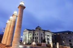 Старое здание суда Boone County в Колумбии Стоковое Изображение