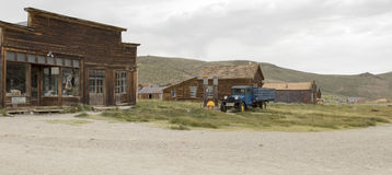 Boone Store with truck on streets of Bodie, California Stock Photography