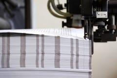 Boook binding. Books printing and binding process Stock Image