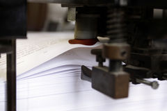 Boook binding. Books printing and binding process Royalty Free Stock Images