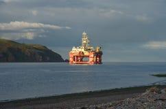 Booreiland dichtbij het Noorden Sutar, Firth Cromarty. stock foto